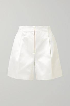 Gabriela Hearst Hayworth Cotton And Silk-blend Satin Shorts