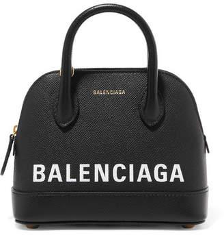 Balenciaga Ville Mini Printed Leather Tote - Black