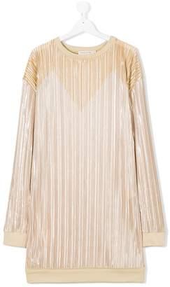 Andorine pleated sweat dress