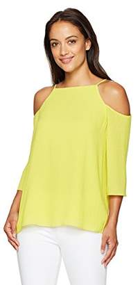 Ellen Tracy Women's Cold Shoulder Blouse