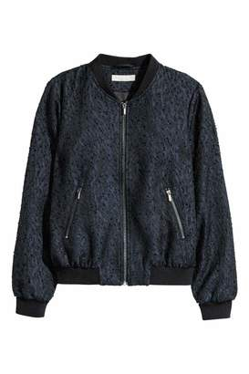 H&M Patterned Bomber Jacket - Dark blue/black - Women
