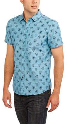 Blue Gear Big Men's Chambray Printed Woven shirt