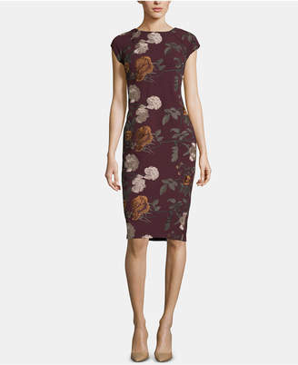 ECI Embroidered Sheath Dress