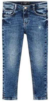 MANGO Ripped details skinny-fit jeans