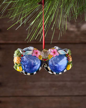 Mackenzie Childs MacKenzie-Childs St. Tropez Sunglasses Glass Ornament