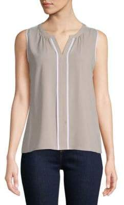 Calvin Klein Splitneck Sleeveless Top