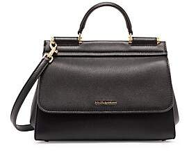 Dolce & Gabbana Women's Sicily Leather Top Handle Bag