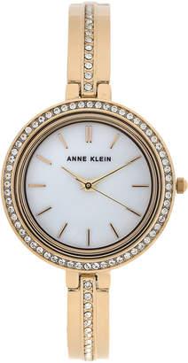 Anne Klein AK3138 Gold-Tone Cuff Bracelet & Interchangeable Bezel Set