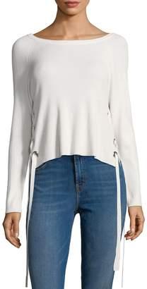 Cliche Women's Lace-Up Sweater