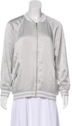 Equipment Silk Embroidered Bomber w/ Tags