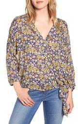 Wit & Wisdom Floral Print Side Tie Top