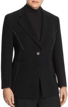 Marina Rinaldi Carato Single-Button Contrast Stitched Blazer