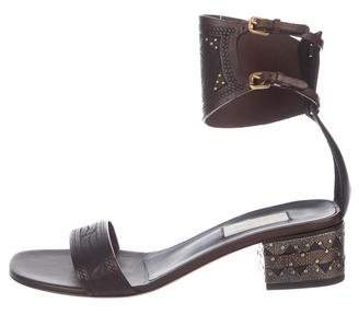 Valentino Studded Leather Sandals w/ Tags