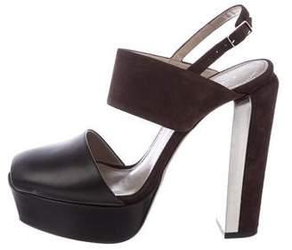 Calvin Klein Collection Suede Platform Sandals