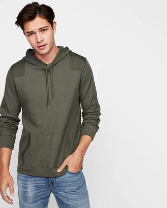 Express Waffle Knit Cotton Pullover Hoodie