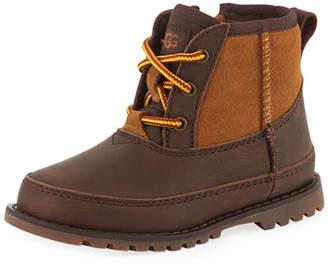 UGG Bradley Suede & Leather Waterproof Boots, Kids