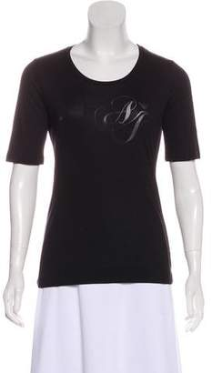 Armani Jeans Knit Short Sleeve Top