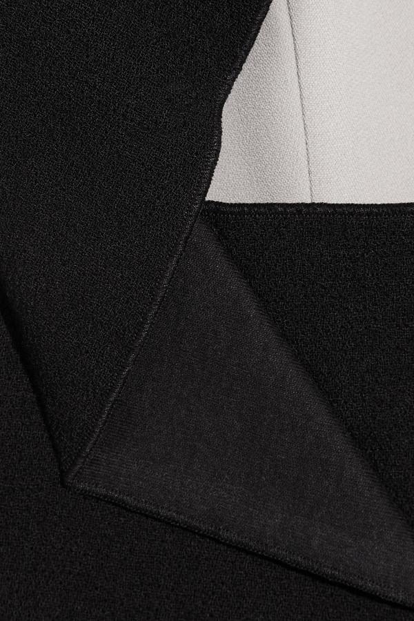 Roland Mouret Scratchered woven wool-paneled crepe dress