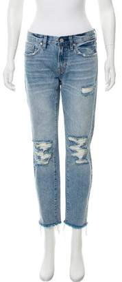 AllSaints Distressed Straight-Leg Jeans