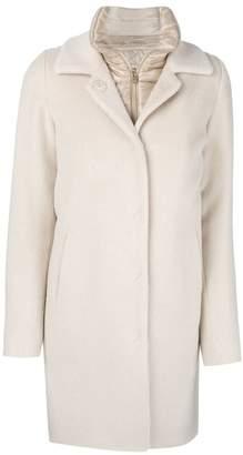Herno padded neck layered coat