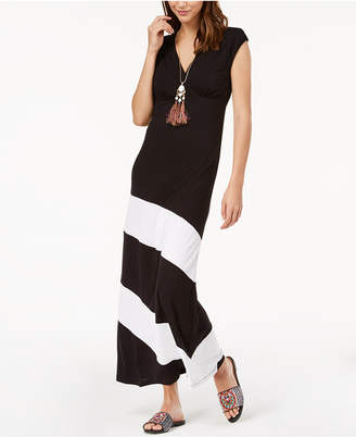 INC International Concepts I.n.c. Petite Colorblocked Maxi Dress, Created for Macy's