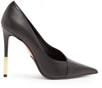 Agnes point-toe leather pumps