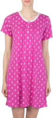 Claudel Short-Sleeve Printed Nightgown