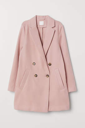 H&M Double-breasted Coat - Pink