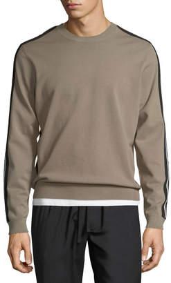 Vince Track Striped Crewneck Sweater
