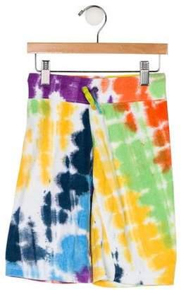 Flowers by Zoe Girls' Tie-Dye Knee-Length Shorts