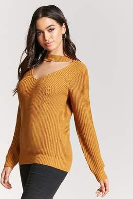 Forever 21 Mock Neck Cutout Sweater