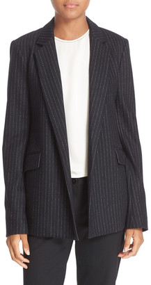 Theory Sedeia Wool-Blend Pinstriped Blazer $495 thestylecure.com