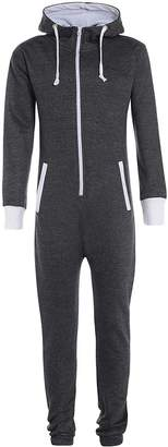 My Mix Trendz Kids Unisex Boys Girls Children Plain Onesie Hooded All In One Jumpsuit 7-13 Yrers