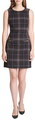 Tommy Hilfiger Plaid Pocket Shift Dress