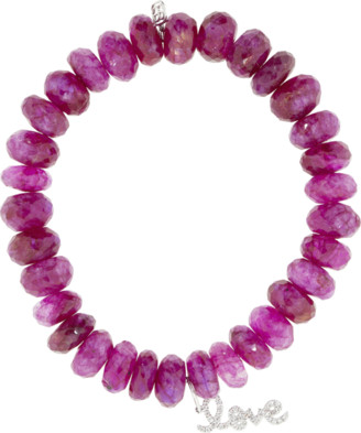 Sydney Evan Pave Diamond Love Charm Bracelet