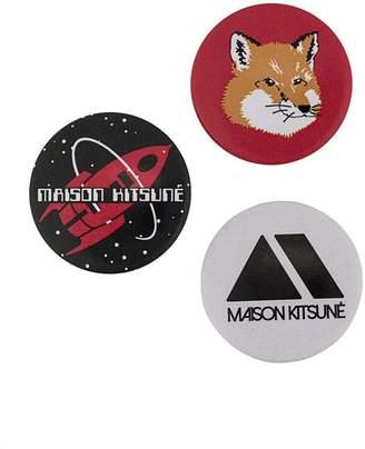 MAISON KITSUNÉ set of three badges