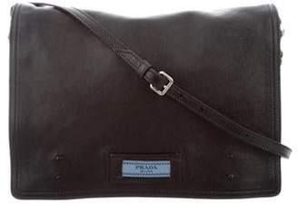 Prada Glace Calf Etiquette Messenger Bag Black Glace Calf Etiquette Messenger Bag