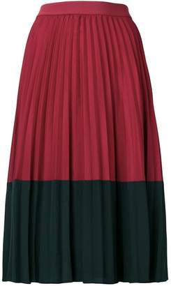 Pinko colour block pleated skirt