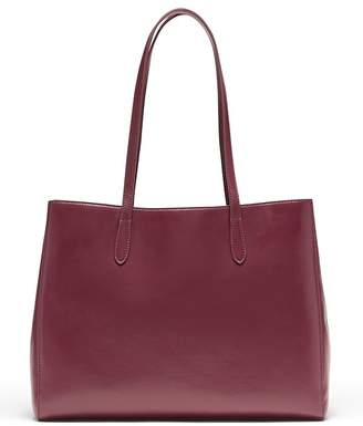Banana Republic Italian Leather East-West Tote
