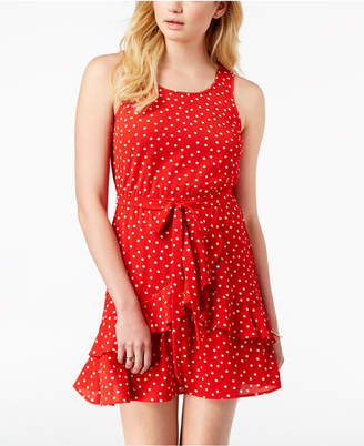 Speechless Juniors' Polka Dot Ruffled Dress