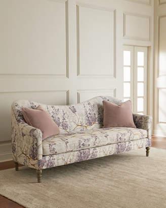 "Lila Camel-Back Style Floral Sofa 93"""