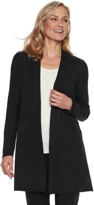Dana Buchman Women's Ribbed Long Cardigan Sweater