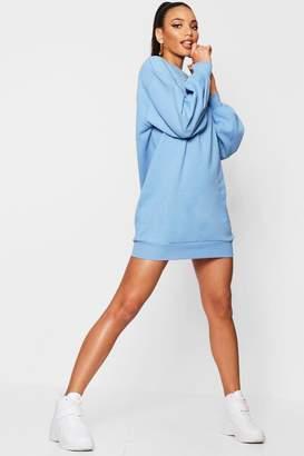 boohoo The Perfect Oversized Volume Sleeve Sweat Dress