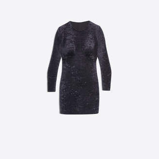 Balenciaga 3D dress in blck crushed velvet jersey