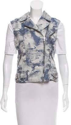 Philosophy di Alberta Ferretti Linen-Blend Vest