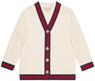 Gucci Kids Children's cotton cardigan with Web