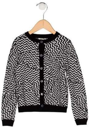 Kenzo Girls' Chevron Knit Cardigan