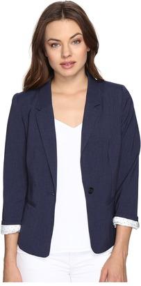 kensie - Heather Stretch Crepe Blazer KS2K2S54 Women's Jacket $89 thestylecure.com