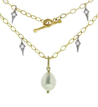 Cathy Waterman Fresh Water Pearl Wire Wrap Charm