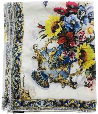 Dolce & Gabbana White Cashmere Scarves